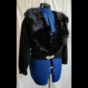 Sweaters - Authentic Mink Collar Cardigan